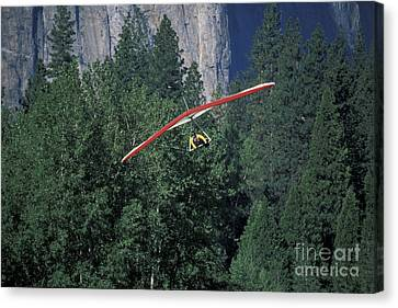 Canvas Print featuring the photograph Hang Glider In Yosemite by Stan and Anne Foster