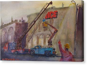 Hanging Ace #1 Canvas Print