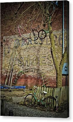 Hanging Bikes Canvas Print