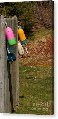 Canvas Print featuring the photograph Hanging Buoys by Debbie Stahre