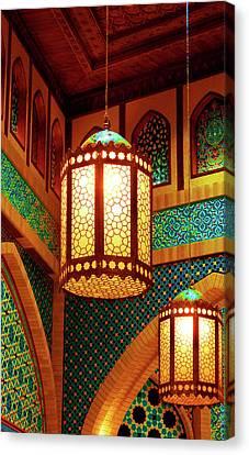 Hanging Lanterns Canvas Print by Farah Faizal