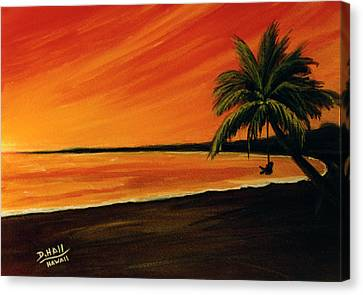 Hanging Out At The Beach #153 Canvas Print by Donald k Hall
