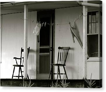 Hanging Out On The Porch Canvas Print