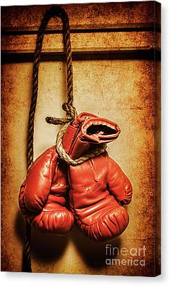 Hanging Up The Gloves Canvas Print by Jorgo Photography - Wall Art Gallery