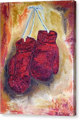 Hanging Up The Gloves Canvas Print by Peter Silkov