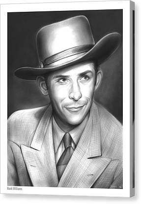Hank Williams Canvas Print by Greg Joens
