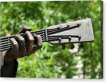 Hank Williams Hand And Guitar Canvas Print