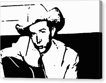 Hank Williams Canvas Print by Jeff DOttavio