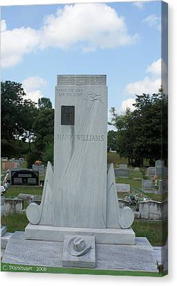 Hank Williams Sr. Headstone Canvas Print by Carolyn Postelwait