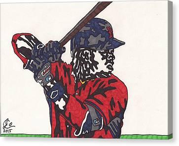 Boston Red Sox Canvas Print - Hanley Ramirez 1 by Jeremiah Colley