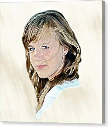 Hannah Portrait Canvas Print by Randy Steele