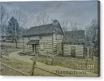 Hannastown Log Cabin One Canvas Print