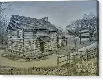Hannastown Log Cabin Two Canvas Print