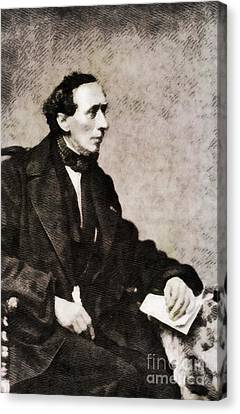 Christian Poetry Canvas Print - Hans Christian Andersen, Literary Legend by John Springfield