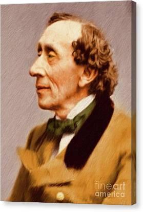 Christian Poetry Canvas Print - Hans Christian Andersen, Literary Legend by Mary Bassett
