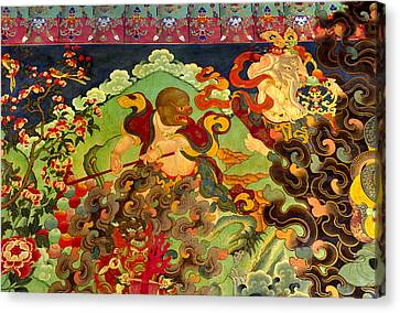 Hanuman Mural - Sera Monastery Tibet Canvas Print by Craig Lovell