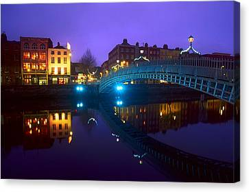 Hapenny Bridge, Dublin, Ireland Canvas Print by The Irish Image Collection