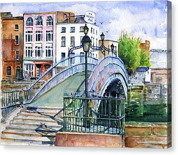 Ha'penny Bridge Dublin Canvas Print