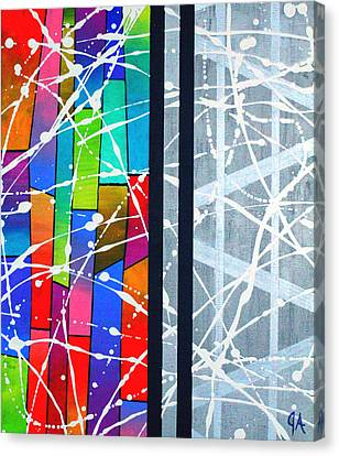 Happiness Against The Steel Canvas Print