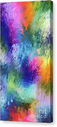 Happiness In Color Canvas Print by Jo Ann Bossems