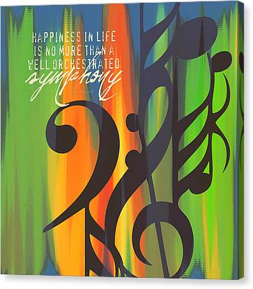 Happiness Is A Symphony Canvas Print by Brandi Fitzgerald