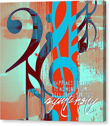 Happiness Is A Symphony V2 Canvas Print by Brandi Fitzgerald