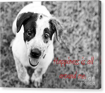 Happiness Is All Around Me Canvas Print by Amanda Barcon