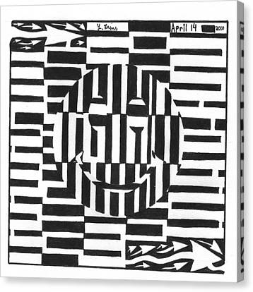 Happiness Is An Illusion Maze Canvas Print by Yonatan Frimer Maze Artist