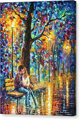 Happiness   Canvas Print by Leonid Afremov