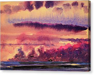 Morning Clouds On The Ocean  Canvas Print