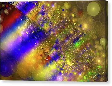 Red Green And Gold Abstracts Canvas Print - Happy And Colorful Abstract Art by Matthias Hauser