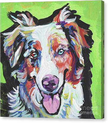 Cattle Dog Canvas Print - Happy Aussie by Lea