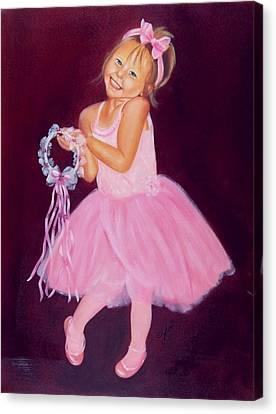 Happy Ballerina Canvas Print by Joni McPherson