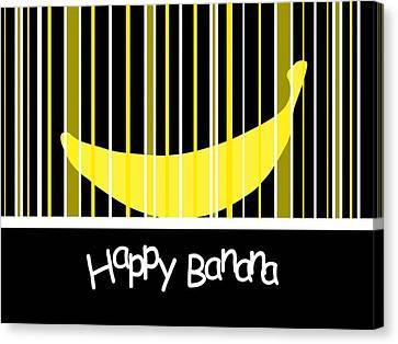 Grocery Store Canvas Print - Happy Banana by Kathleen Sartoris