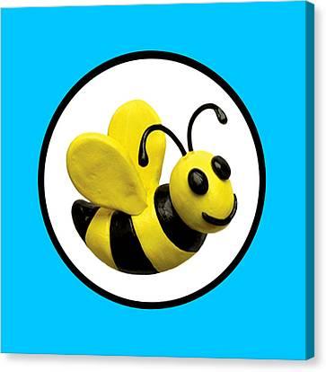Happy Bee Canvas Print