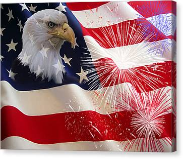 Happy Birthday America Canvas Print by Evelyn Patrick