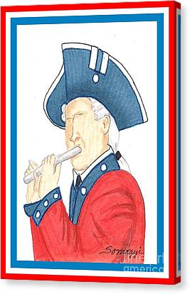 Happy Birthday, America Canvas Print by Jayne Somogy