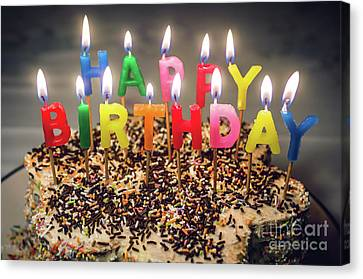 Happy Birthday Candles Canvas Print