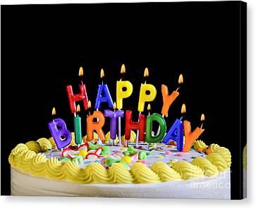 Happy Birthday Candles Canvas Print by Diane Diederich