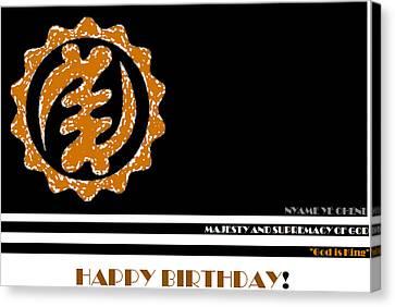 Happy Birthday Card Canvas Print