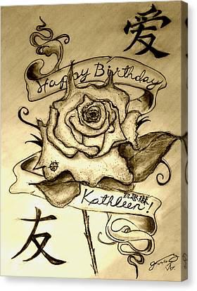 Happy Birthday Kathleen Canvas Print by Jose A Gonzalez Jr