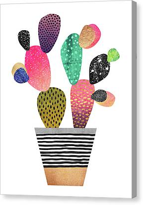 Happy Cactus Canvas Print