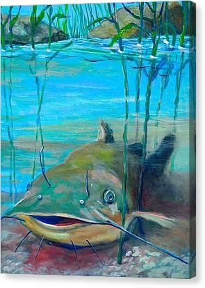Happy Catfish Canvas Print