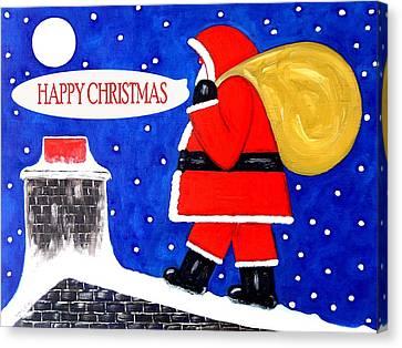 Happy Christmas 12 Canvas Print by Patrick J Murphy