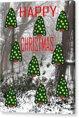Happy Christmas 22 Canvas Print by Patrick J Murphy