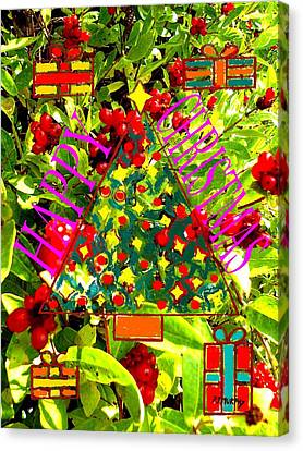 Happy Christmas 25 Canvas Print by Patrick J Murphy