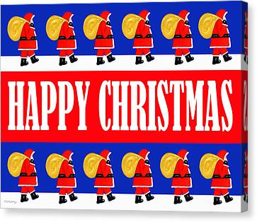 Happy Christmas 26 Canvas Print by Patrick J Murphy