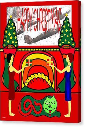 Happy Christmas 32 Canvas Print by Patrick J Murphy