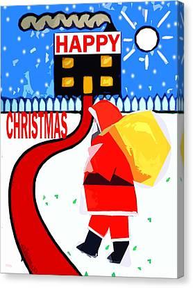 Happy Christmas 80 Canvas Print by Patrick J Murphy