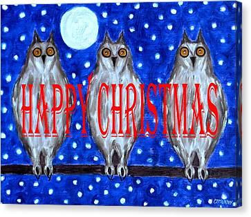 Happy Christmas 94 Canvas Print by Patrick J Murphy